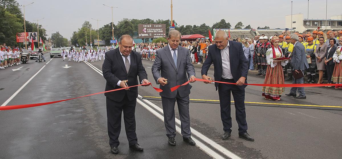 Путепровод после реконструкции торжественно открыли в Барановичах