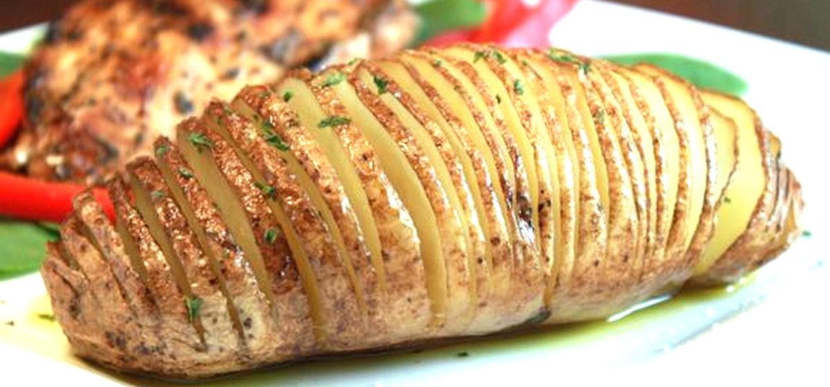 Вкусно и просто. Запеченный картофель с чесночным маслом