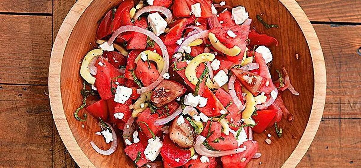 Вкусно и просто. Салат из арбуза