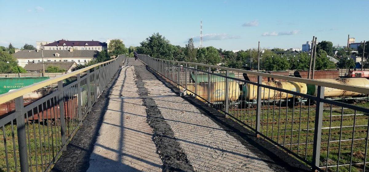 Вопрос – ответ. Когда закончится ремонт пешеходного моста на вокзале Барановичи – Центральные?
