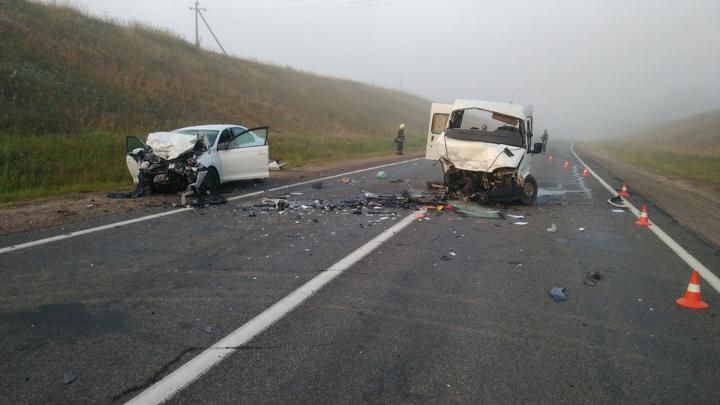 Микроавтобус Ford лоб в лоб столкнулся с Skoda в Логойском районе – пострадали пять человек. Фото