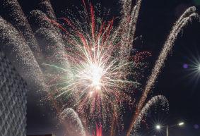 Фейерверк 3 июля в Барановичах. Фото и видео