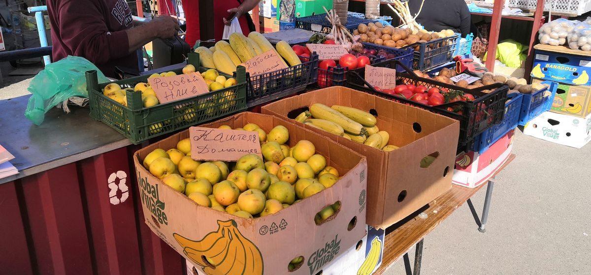 Что почем. На барановичском рынке подешевели голубика и чеснок, появились недорогие домашние яблоки