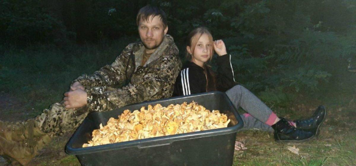 Семья грибников из Светлогорска за 3,5 часа собрала более 20 килограмм лисичек. Фото