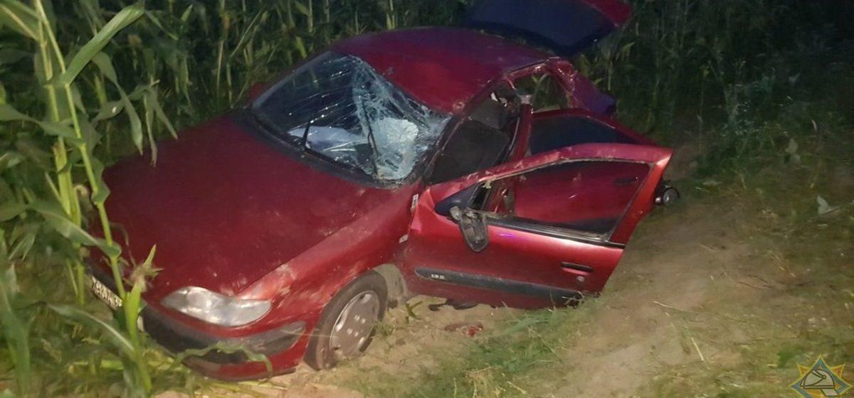 Citroen вылетел в кювет в Дзержинске — в салоне авто зажало водителя