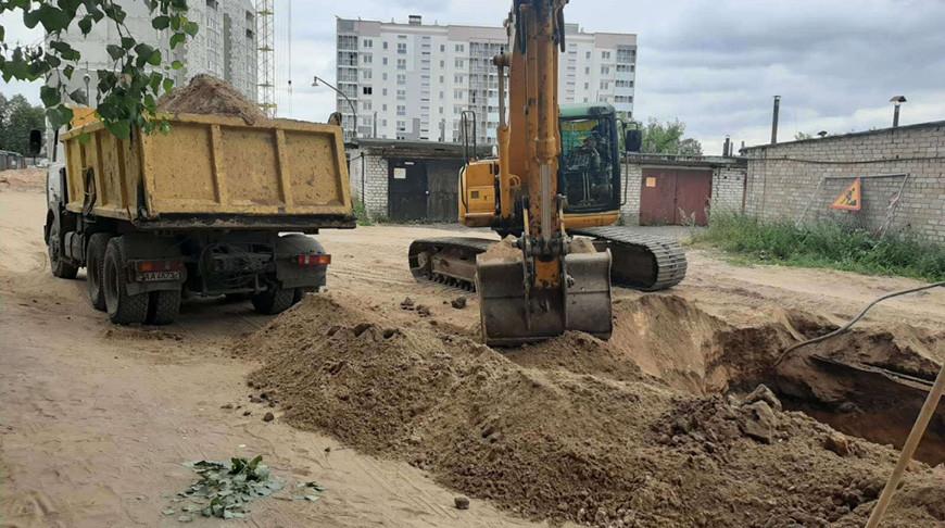 Возле строящейся многоэтажки в Барановичах нашли снаряд