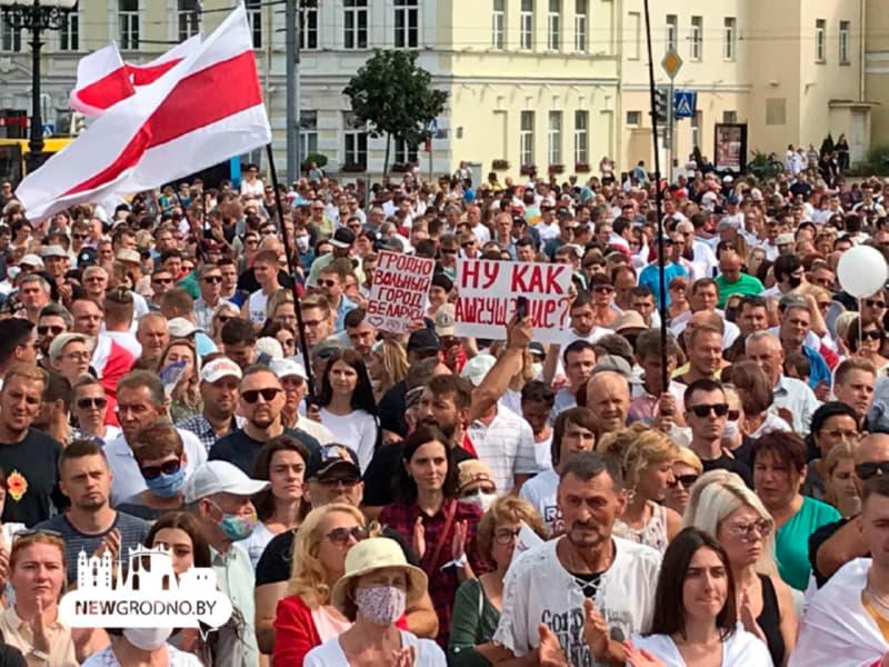 Марш за свободу в Гродно. Фото: newgrodno.by