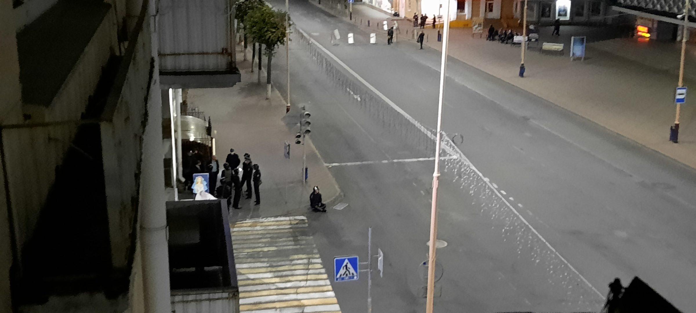 Площадь Ленина в Барановичах 12 августа. Фото: Intex-press.