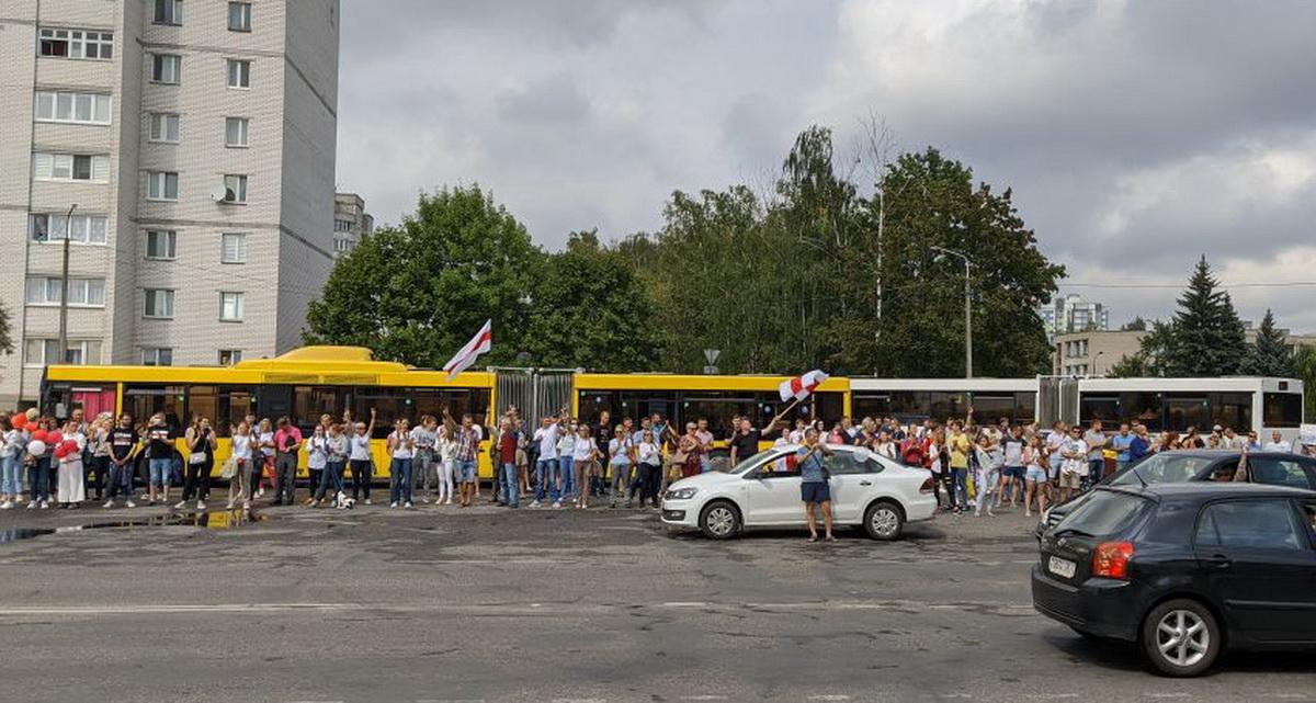 Акция сотрудников авиазавода. Фото прислано читателем