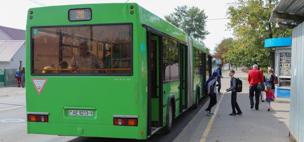 Изменится расписание движения барановичского автобуса по маршруту №28