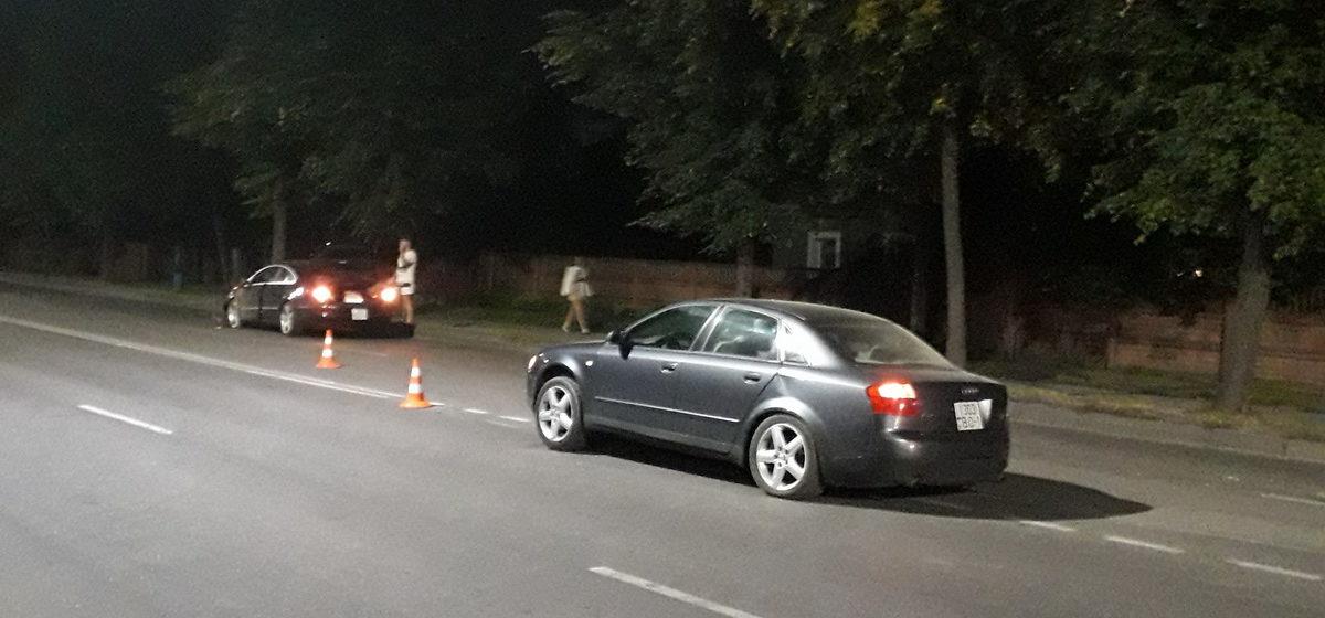 У «Ауди» оторвало колесо в результате ДТП в Барановичах