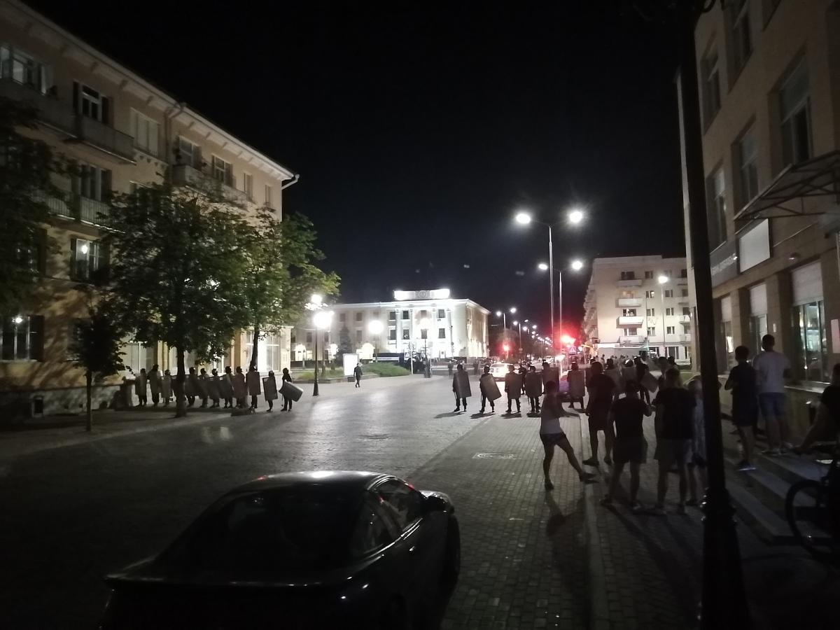 Протесты в Барановичах. Фото: Intex-press