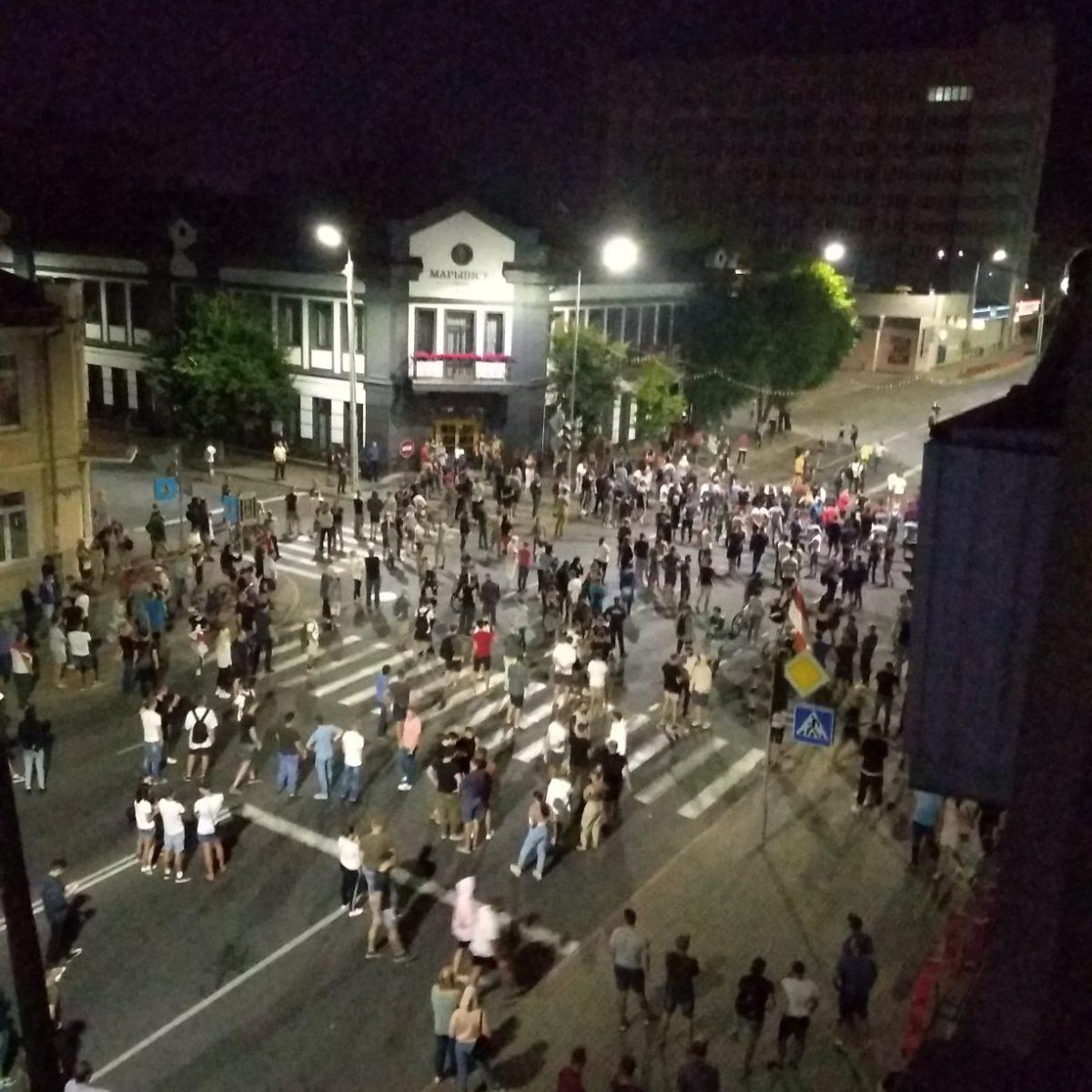 Протесты в Барановичах 10.08.2020. Фото: читатель Intex-press