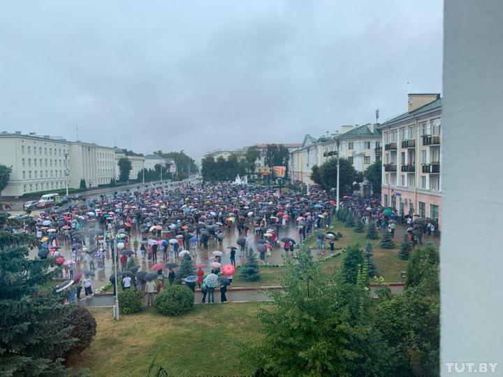 Митинг в Бресте. Фото: tut.by