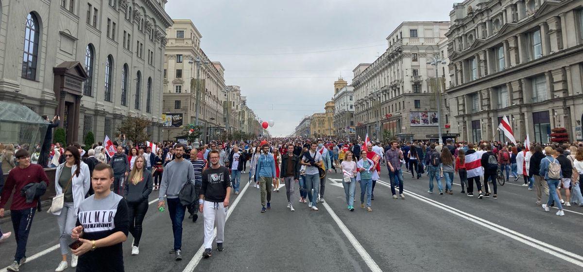 23 августа. «Марш новой Беларуси» в Минске. Фото: Intex-press