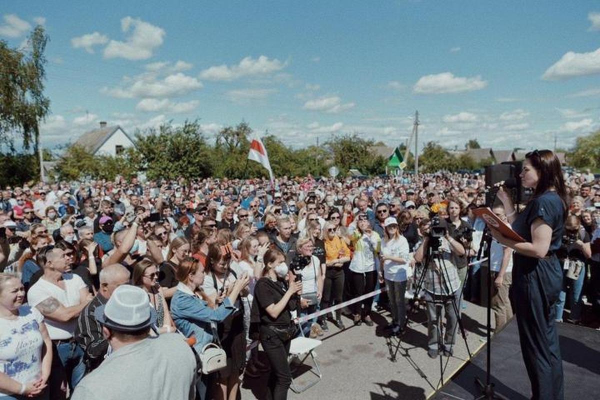 Митинг Светланы Тихановской в Глубоком 24 июля. Фото: t.me/viktarbabarykaofficial