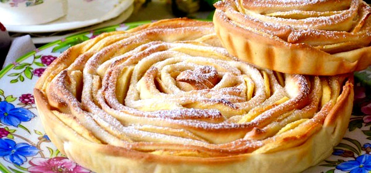 Вкусно и просто. Яблочный пирог «Чайная роза»