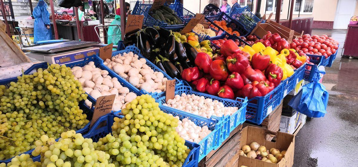 Что почем. На барановичском рынке подешевели дыни и перец, появилась кукуруза