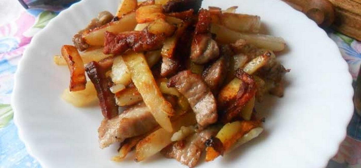 Вкусно и просто. Жареная картошка с мясом
