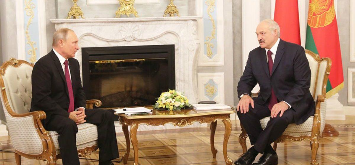 Переговоры Владимира Путина и Александра Лукашенко пройдут в формате «один на один»