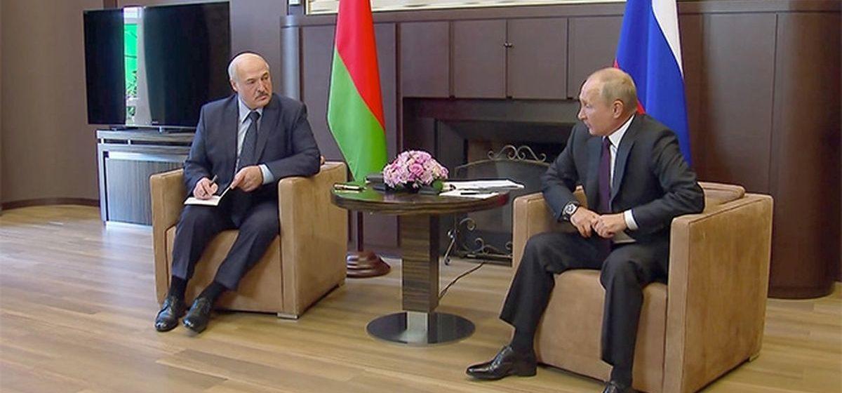 Встреча Лукашенко и Путина: 1,5 млрд долларов кредита и отвод резерва российских силовиков на границе