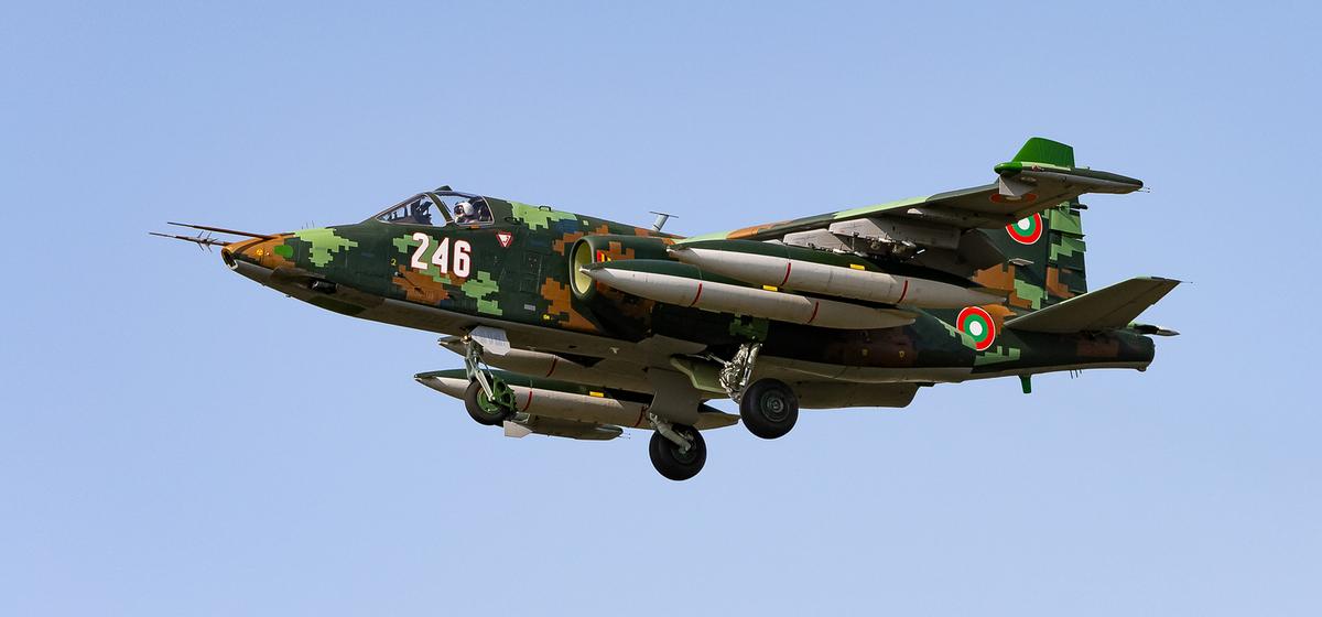 Снимок Су-25, сделанный 15 сентября в Барановичах. Фото: https://russianplanes.ne