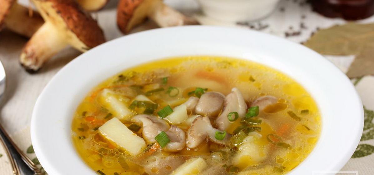 Вкусно и просто. Грибной суп с маслятами