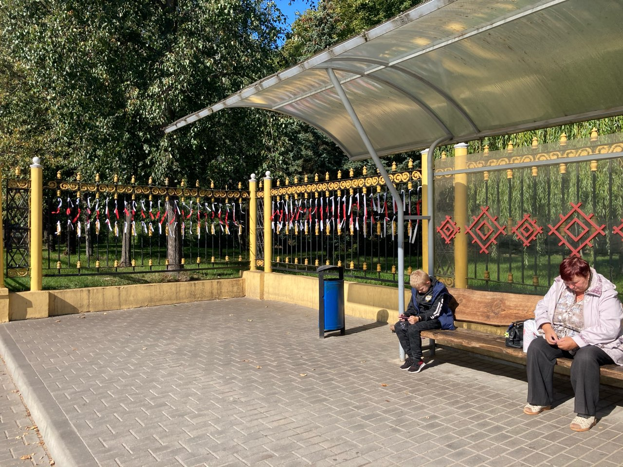 14 сентября. Остановка «Улица Гагарина» возле молодого парка. Фото: Ирина КОМИК