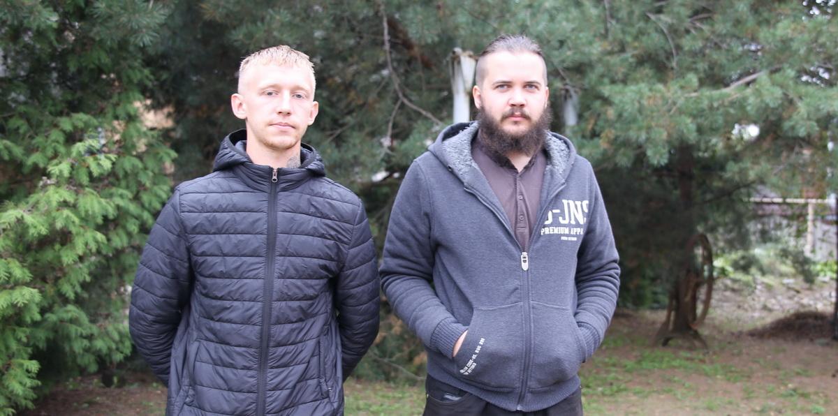 Александр Шолоник и Виктор Скаскевич. Фото: Татьяна МАЛЕЖ
