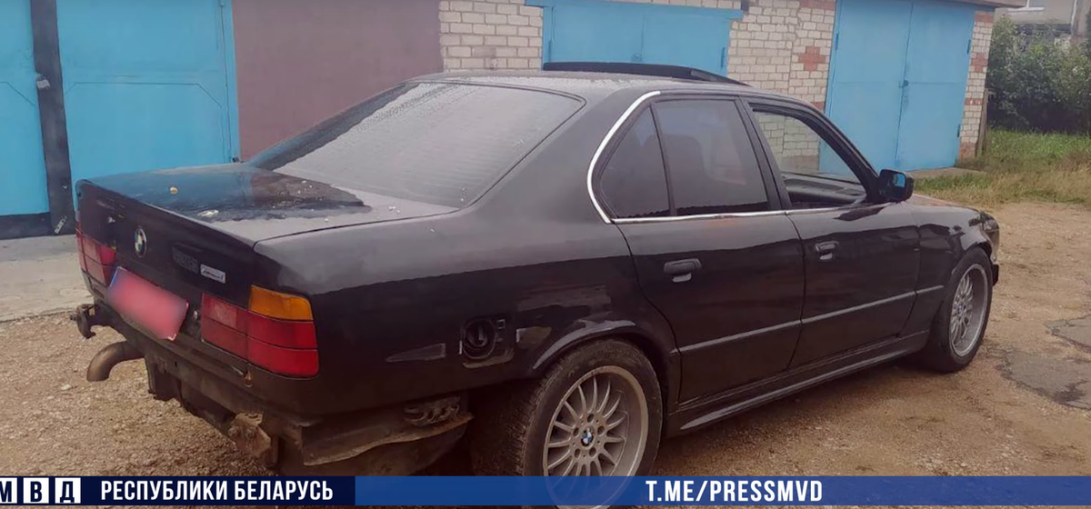 Задержаны воры, угнавшие BMW в Барановичах. Видео