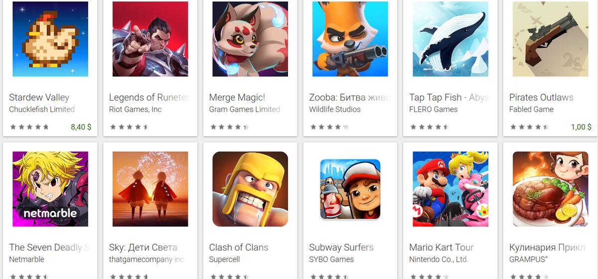 Две мобильные игры белорусов попали в топ-10 самых популярных в мире