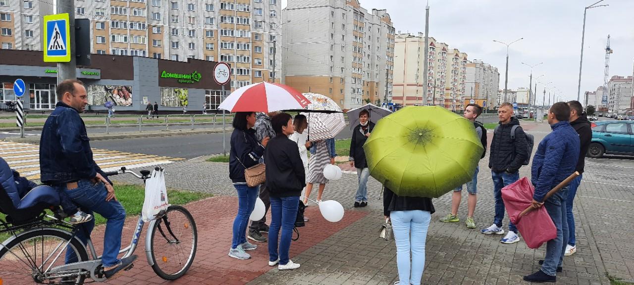 Сбор горожан в Боровках. Фото: Александра РАЗИНА
