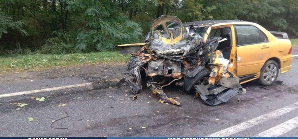 Mitsubishi лоб в лоб влетела в Audi в Копыльском районе — погибли три человека