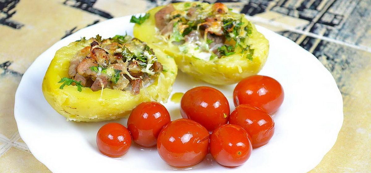Вкусно и просто. Картофельные лодочки, запеченные с фаршем