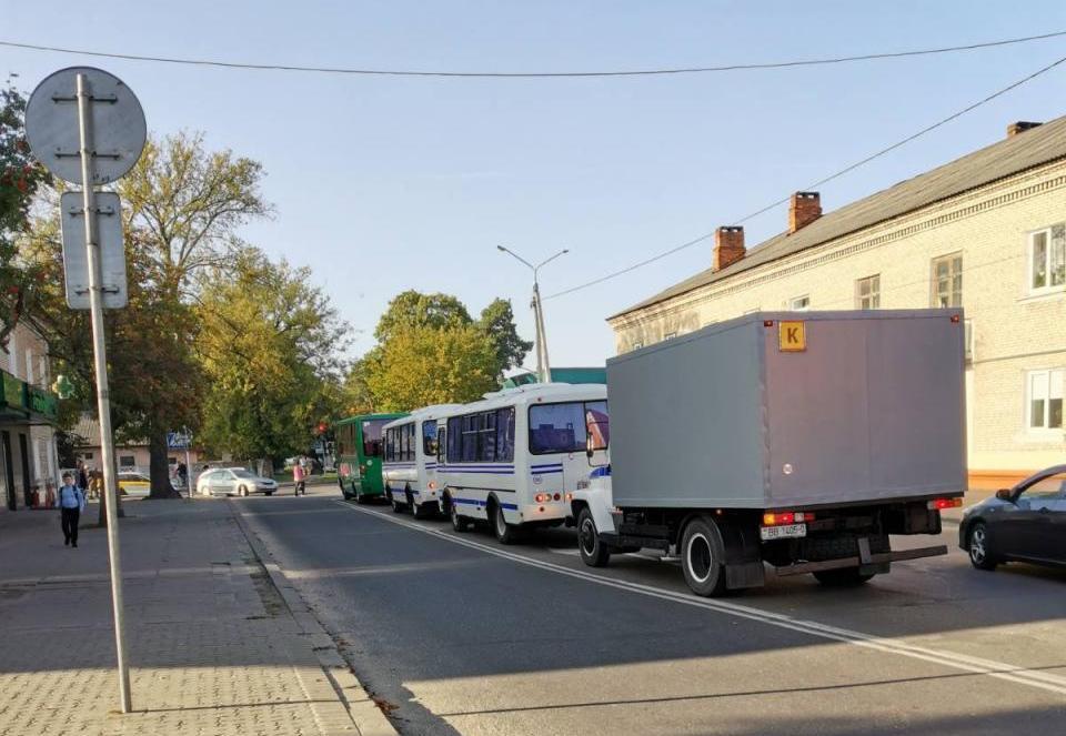 23 сентября в Барановичах. Фото читателя Intex-press