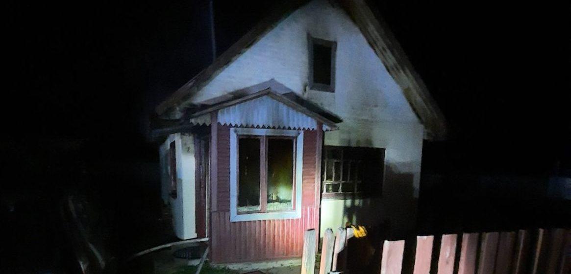 Дачный дом горел под Барановичами
