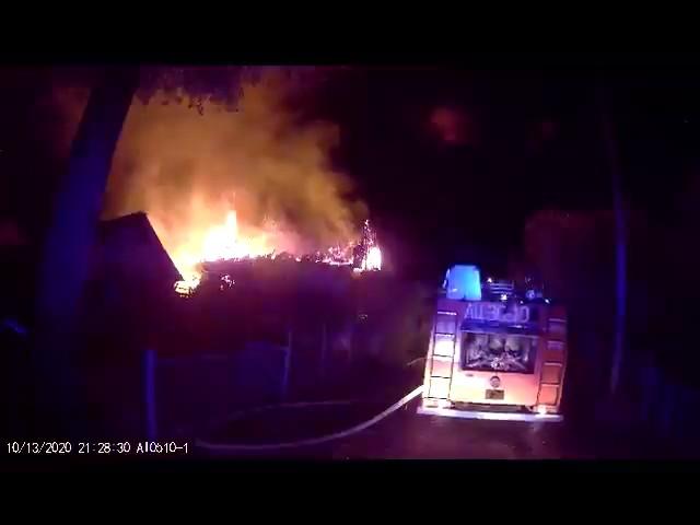 Жилой дом горел в Барановичском районе. Фото