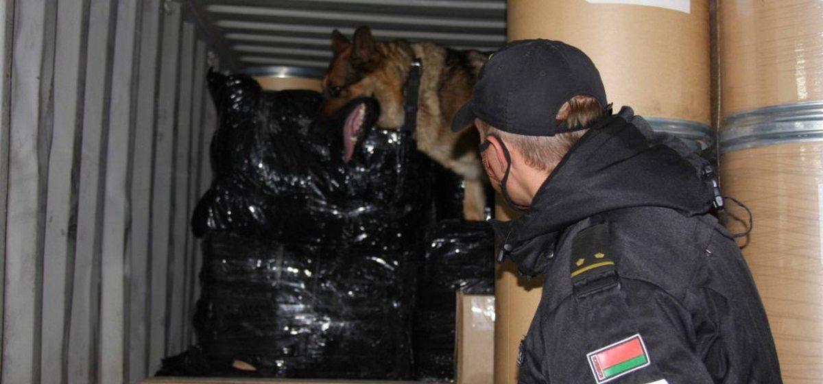 Контейнер с гашишем на 13 млн долларов задержали на белорусской границе. Видео