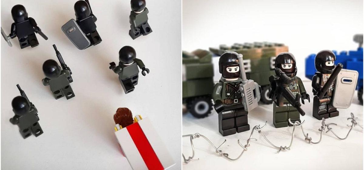Минский дизайнер с помощью Lego создает сюжеты белорусских протестов. Это очень круто!