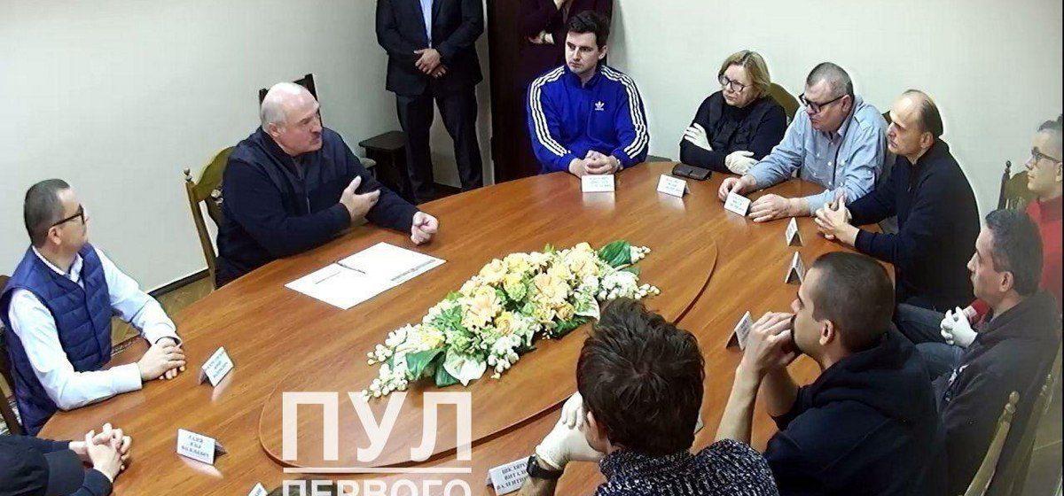 10 октября. Встреча Александра Лукашенко с членами Координационного совета и объединенного штаба в СИЗО КГБ. Фото: t.me/pul_1