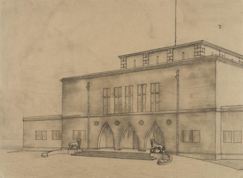 Проект зала для представлений в Барановичах. Фото: Archiwum Akt Nowych