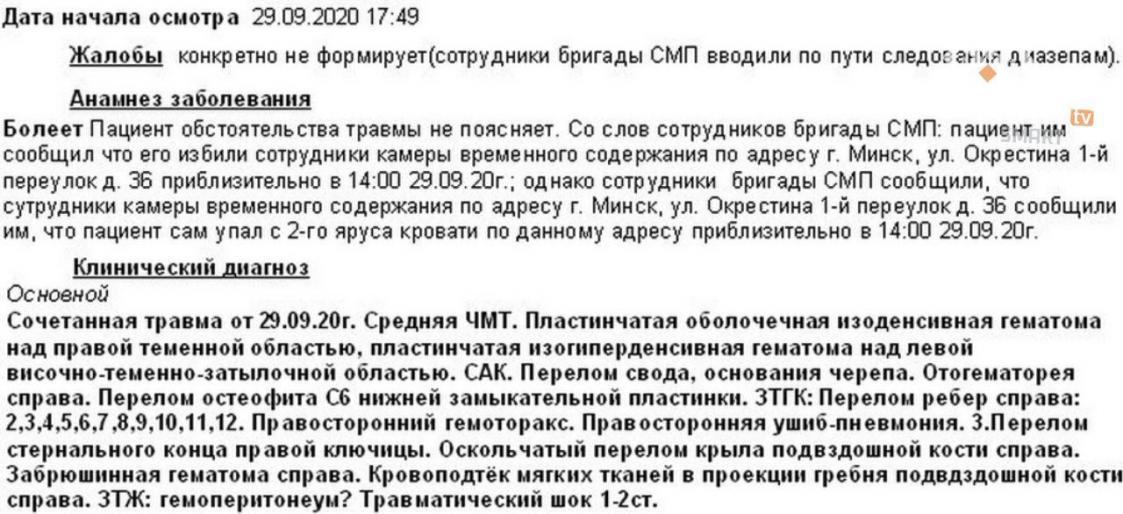 Анамнез Дениса Кузнецова / https://t.me/belsat