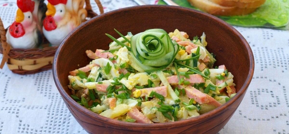 Вкусно и просто. Картофельный салат с колбасой