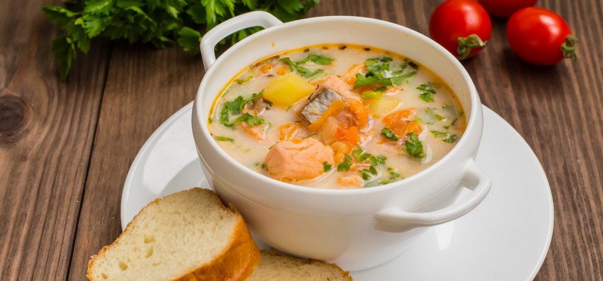 Вкусно и просто. Сливочный суп с семгой
