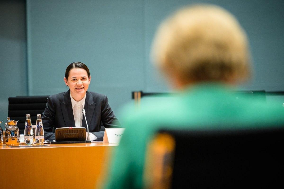 Светлана Тихановская на встрече с Ангелой Меркель. Фото предоставлено пресс-службой Светланы ТИХАНОВСКОЙ