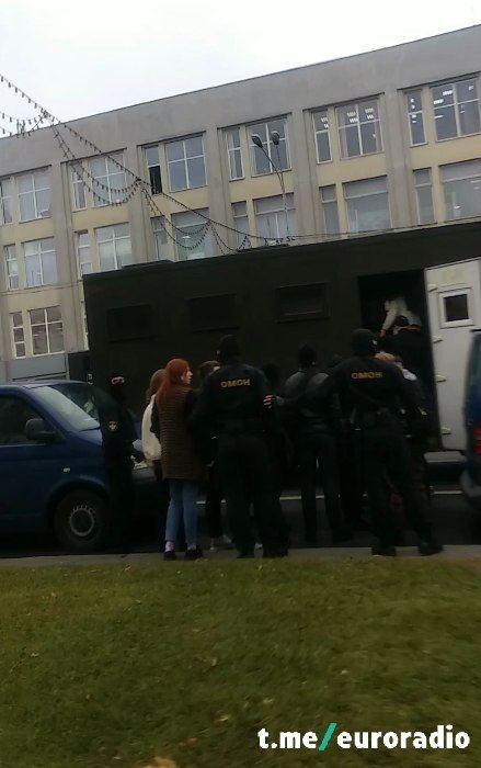 Задержание студентов. Фото: Еврорадио