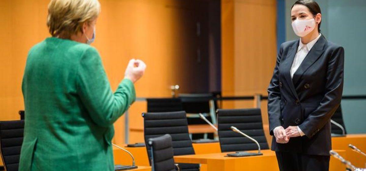 Светлана Тихановская встретилась с Ангелой Меркель в Берлине