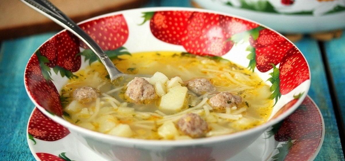 Вкусно и просто. Суп с фрикадельками и вермишелью
