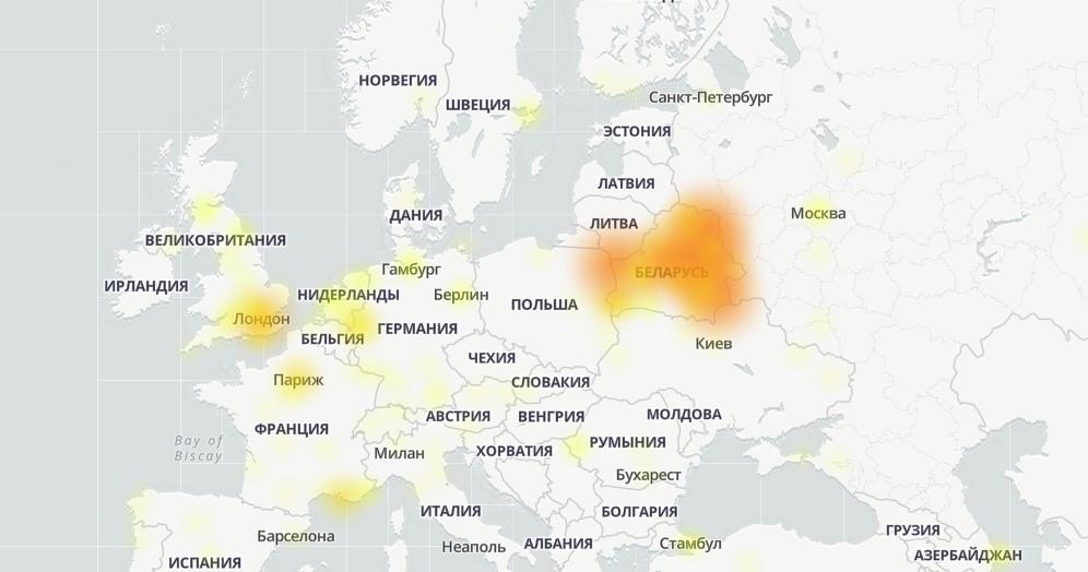 В YouTube в Беларуси произошел сбой. Есть проблемы и с другими сервисами Google