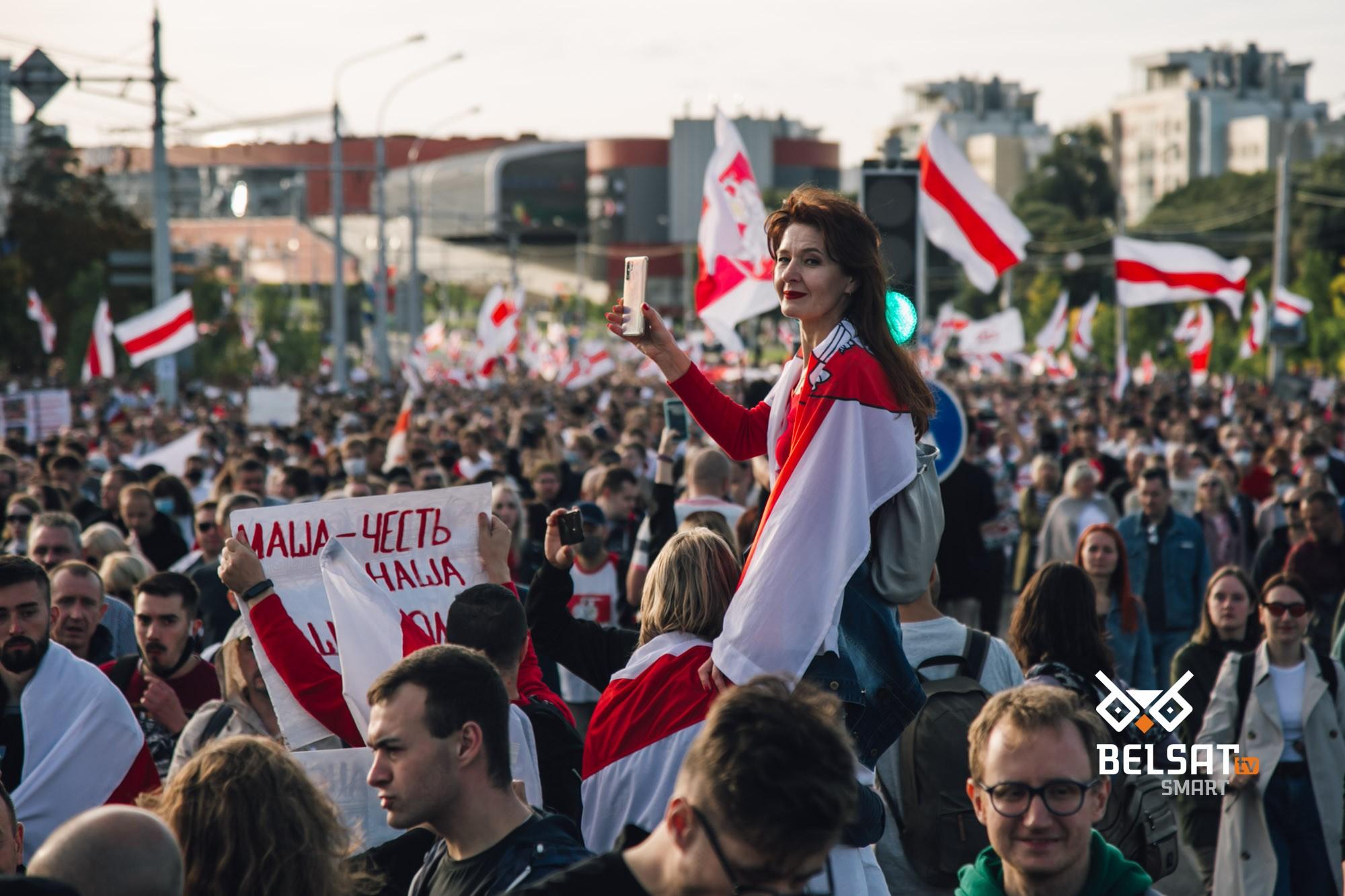 Марш герояў, Менск, 13 верасня 2020 г. Фота: ТК / «Белсат»